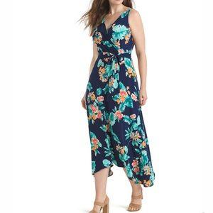 Donna Morgan Floral Faux Wrap Maxi Dress